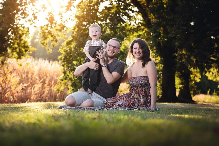 seance photo famille extérieur