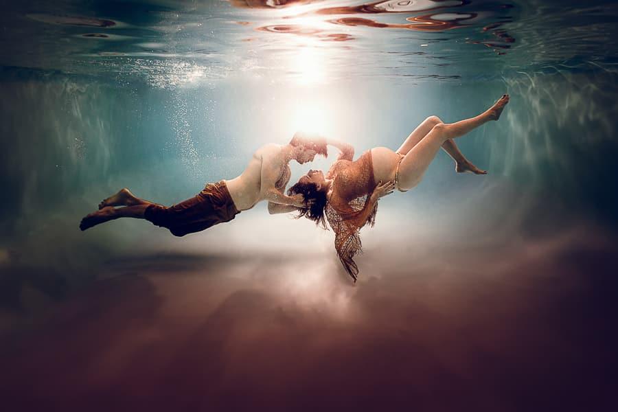 photo de grossesse sous l eau